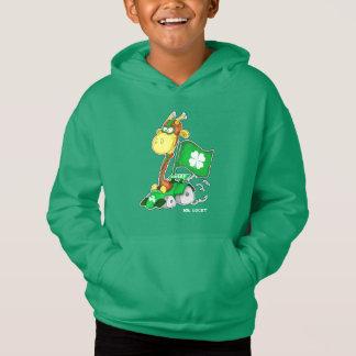 Funny Giraffe St.Patrick's Day Hoodie