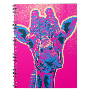 Funny Giraffe Sticking out his Tongue Note Book