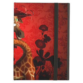 Funny giraffe, the lady iPad air covers