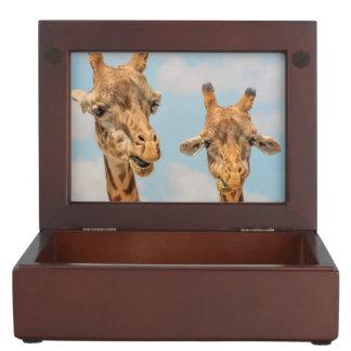 Funny Giraffes Keepsake Box