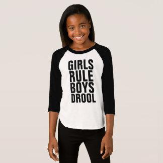 Funny GIRLS kids T-shirts, GIRLS RULE BOYS DROOL T-Shirt