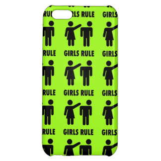 Funny Girls Rule Neon Lime Green Girl Power iPhone 5C Case
