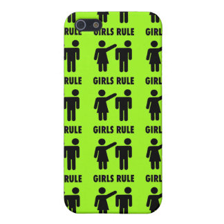 Funny Girls Rule Neon Lime Green Girl Power Cover For iPhone 5