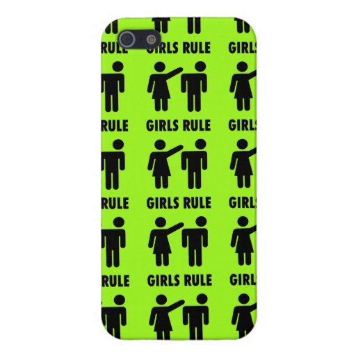 Funny Girls Rule Neon Lime Green Girl Power iPhone 5 Case