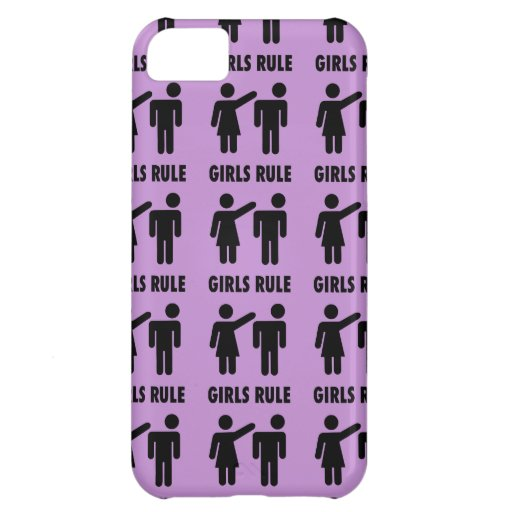 Funny Girls Rule Purple Girl Power Feminist Gifts iPhone 5C Covers