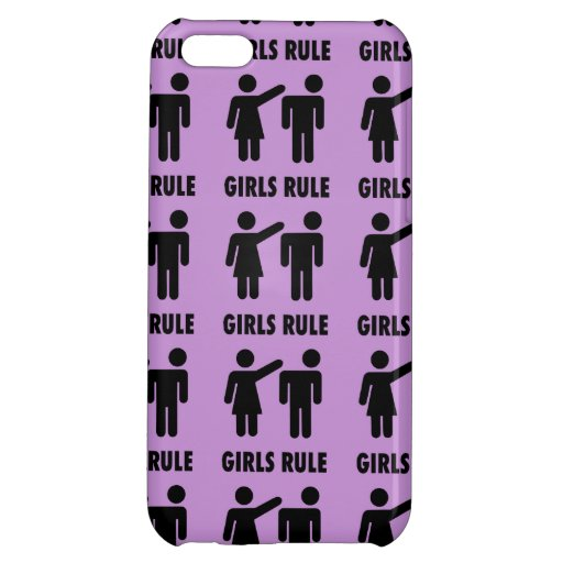 Funny Girls Rule Purple Girl Power Feminist Gifts iPhone 5C Cover