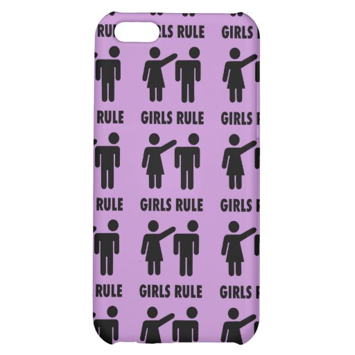 Funny Girls Rule Purple Girl Power Feminist Gifts iPhone 5C Case