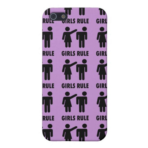 Funny Girls Rule Purple Girl Power Feminist Gifts Cases For iPhone 5