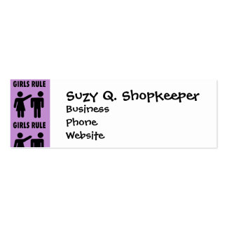 Funny Girls Rule Purple Girl Power Feminist Gifts Pack Of Skinny Business Cards