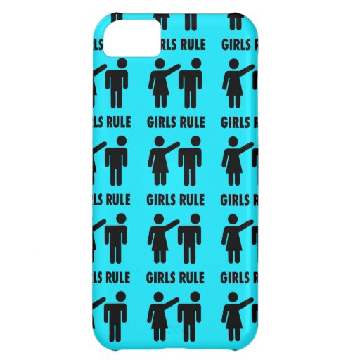 Funny Girls Rule Teal Turquoise Blue Girl Power Cover For iPhone 5C