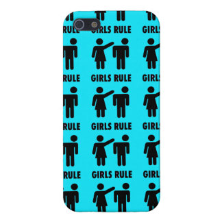 Funny Girls Rule Teal Turquoise Blue Girl Power Covers For iPhone 5