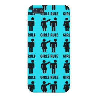 Funny Girls Rule Teal Turquoise Blue Girl Power Case For iPhone 5