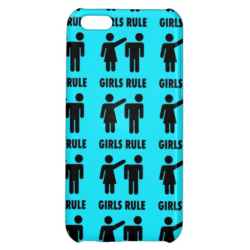 Funny Girls Rule Teal Turquoise Blue Girl Power Case For iPhone 5C