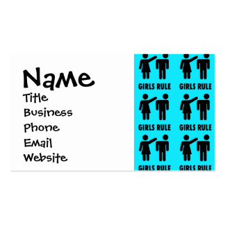 Funny Girls Rule Teal Turquoise Blue Girl Power Pack Of Standard Business Cards