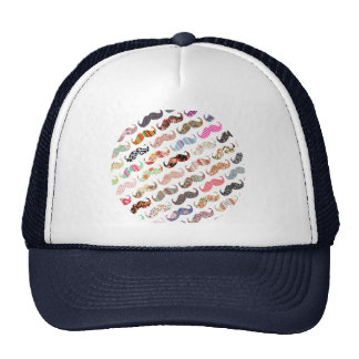 Funny Girly  Colorful Patterns Mustaches Cap