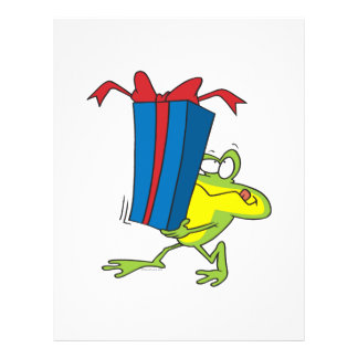 funny giving present froggy frog animal cartoon flyer