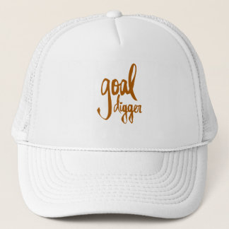 FUNNY GOAL DIGGER PLAY ON WORDS ATTITUDE MOTIVATIO TRUCKER HAT