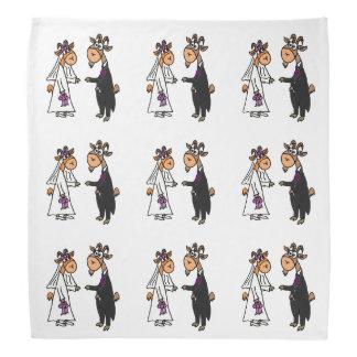 Funny Goat Bride and Groom Wedding Bandana
