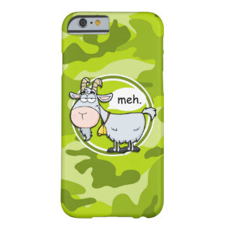 Funny Goat; bright green camo, camouflage Barely There iPhone 6 Case