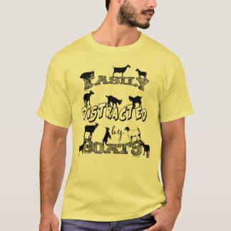 FUNNY GOAT | Easily Distracted by Goats T-Shirt