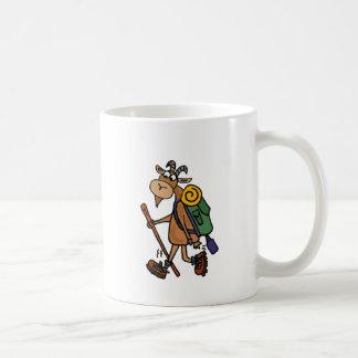 Funny Goat Hiking Art Coffee Mug