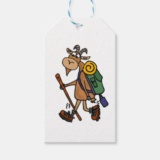 Funny Goat Hiking Art Gift Tags