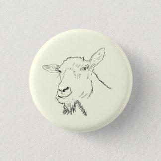 Funny Goat Line Drawing Animal Art Design 3 Cm Round Badge