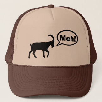 Funny Goat Meh Word Bubble Hat