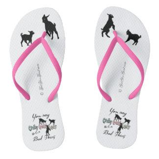 FUNNY GOAT SAYING  | Crazy Goat Lady Cool Pastels Thongs