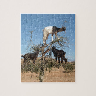 Funny goats in a tree jigsaw puzzle