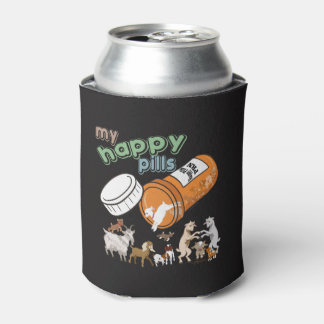 FUNNY GOATS | My Happy Pills GetYerGoat Can Cooler