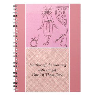 Funny Goddess Cat Gak Spiral Note Books