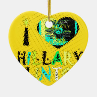 Funny Golden lovey Amazing Hope Hillary for USA Co Ceramic Ornament
