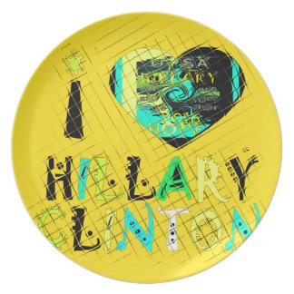 Funny Golden lovey Amazing Hope Hillary for USA Co Dinner Plates