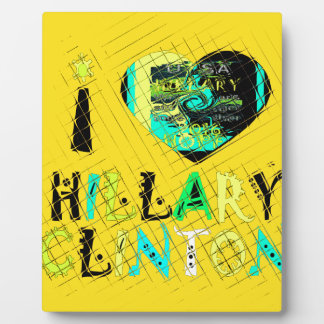 Funny Golden lovey Amazing Hope Hillary for USA Co Display Plaques