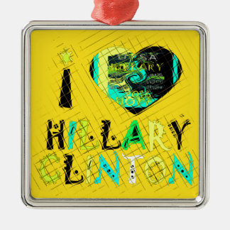 Funny Golden lovey Amazing Hope Hillary for USA Co Metal Ornament
