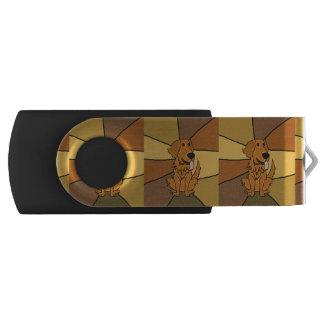 Funny Golden Retriever USB Drive