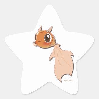 Funny goldfish cartoon cute character sticker