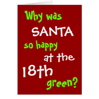 Funny Golf Christmas Card - Santa Hole in One Joke