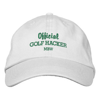 Funny Golf Hacker Custom Monogram Embroidered Baseball Cap