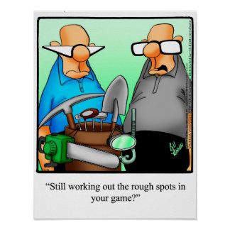 Funny Golf Humor Poster Gift