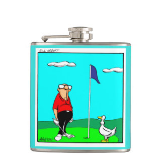 Funny Golf Humour Flask Gift