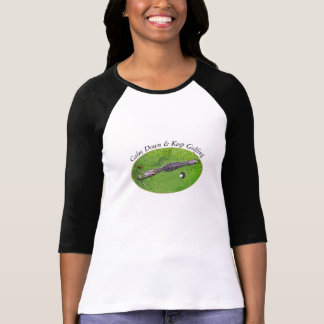 FUNNY GOLFER WOMAN TSHIRT, CALM & KEEP GOLFING T-Shirt