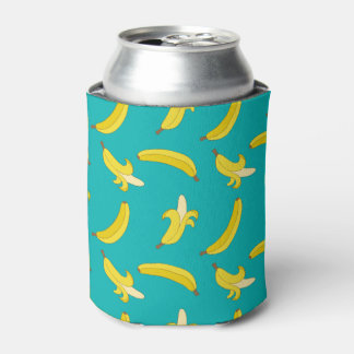 Funny Gone Bananas illustrated pattern Can Cooler