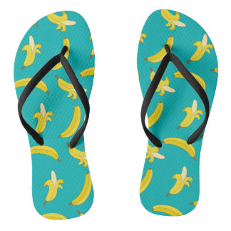 Funny Gone Bananas illustrated pattern Thongs