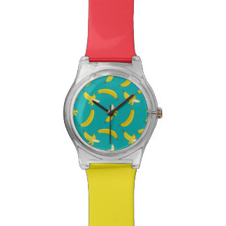 Funny Gone Bananas illustrated pattern Watch