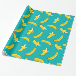 Funny Gone Bananas illustrated pattern Wrapping Paper