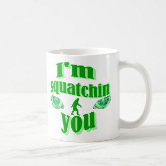 Funny gone squatching basic white mug