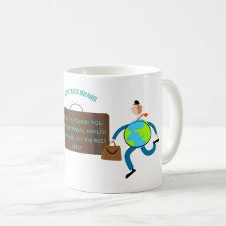 Funny Goodbye Gift Personalized Travelling Man Coffee Mug