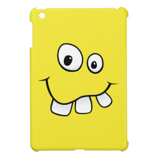 Funny goofy yellow cartoon smiley face funny iPad mini covers